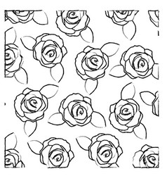 blurred silhouette of pattern with roses and vector image vector image