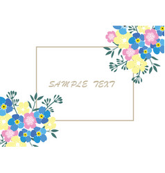 business card floral vector image