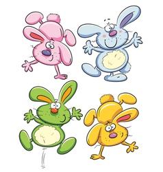 cheerful bunny vector image vector image