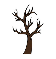 dry tree isolated icon vector image vector image
