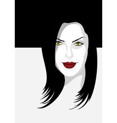 halloween girl vector image