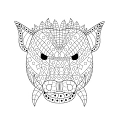 The head wild boar Coloring for adults vector image