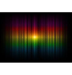 v horizontal lines abstract rainbow dark vector image vector image