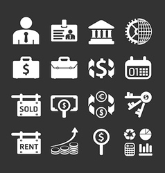 Business and financial Icons set vector image vector image