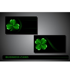 business card St Patricks Day vector image vector image