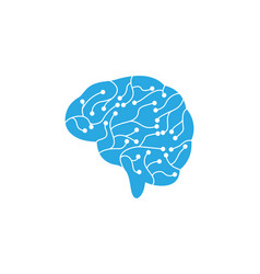 circuit brain icon vector image