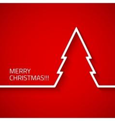 Creative modern Christmas tree with long shadow vector image vector image
