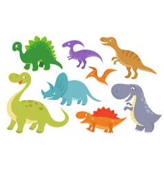 cute cartoon dinosaurs clip art funny dino vector image