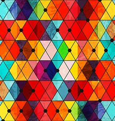 rainbow color mosaic seamless pattern vector image