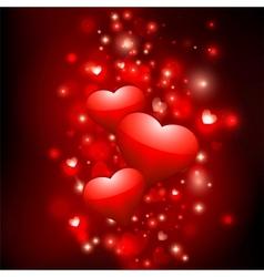 shiny valentine background vector image