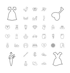 37 beautiful icons vector