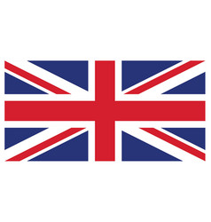 accurate correct union jack united kingdom flag vector image