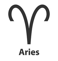 Aries ram zodiac sign icon vector image