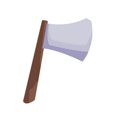 ax with wooden handle steel weapon vector image