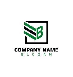 b letter logotype vector image