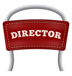 Back of the metal directorial chair vector image