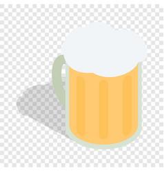 beer mug isometric icon vector image