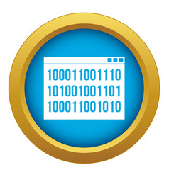 binary code icon blue isolated vector image