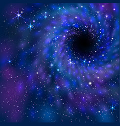black hole space vector image