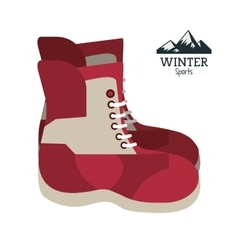 boots winter sport wear shoes vector image