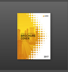 brochure cover design template for construction vector image