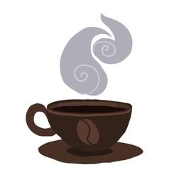 Cartoon coffee cup icon vector image