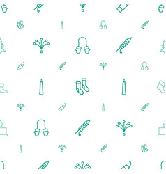 Christmas icons pattern seamless white background vector