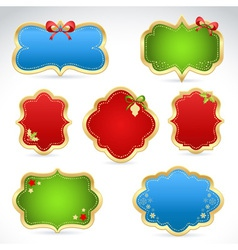 Christmas sale stickers and tags for text vector image