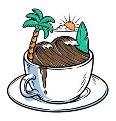 coffee waves vector image