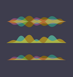 color set of sound waves equalizer design vector image