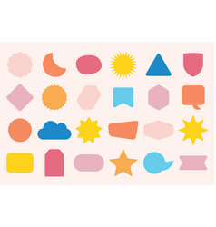 Colorful isolated random shapes icon set vector