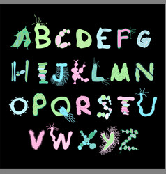 Colourful biology font vector