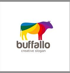 Creative abstract colorful buffallo logo icon vector