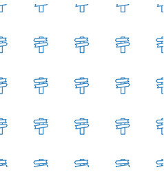 direction icon pattern seamless white background vector image
