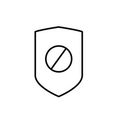 disabled security icon vector image