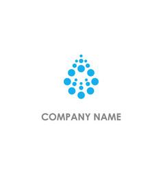 Droplet dot abstract bio logo vector