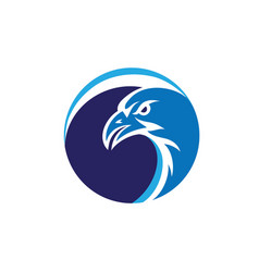 Eagle face logo vector
