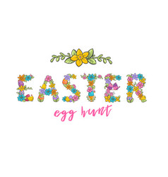 easter egg hunt christian church festival card vector image