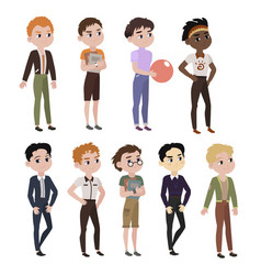 fashionable boys vector image