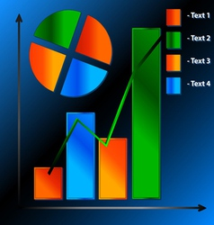 Financial charts vector image