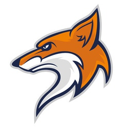 fox head mascot vector image