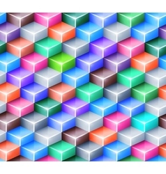 Geometric seamless pattern with bright vector