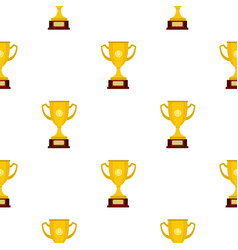 Gold cup pattern flat vector