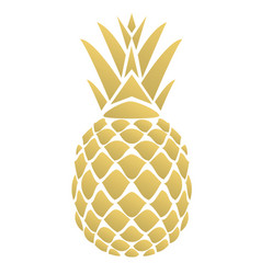 Golden pineapple vector