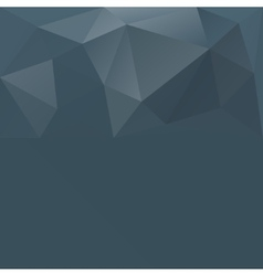 Gray blue abstract polygonal background vector