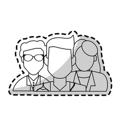 Group of faceless doctors icon image vector