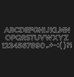 handwritten brush script letters on chalkboard vector image