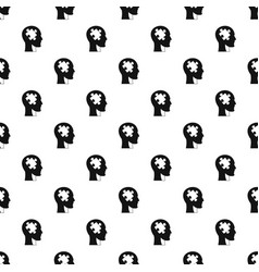 Head with puzzle pattern vector