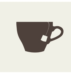 icon of brown cup on beige background vector image