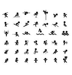 icons of olympic vector image